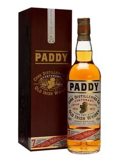 A single pot still limited edition version of the famous Paddy Irish Whiskey released to celebrate the 2013 centenary of the brand.  The packaging has been designed to be reminiscent of the brand's...