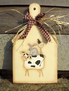 Country Crafts, Country Art, Country Primitive, Pallet Crafts, Wood Crafts, Diy And Crafts, Primitive Painting, Painting On Wood, Tole Painting Patterns