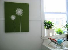 I LOVE this painting. I've seen lots of dandelion fuzz paintings and this is just super cool.