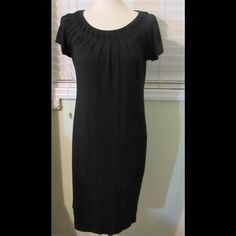 Fabulous rayon/spandex LBD by Talbots Super cute and super comfortable, this LBD is in great condition. Made of 95% rayon and 5% spandex. Adorable pleating at neckline. Talbots Dresses Midi