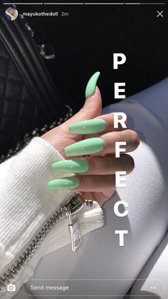 Designer nägel Acrylic Nails Easy Concepts Hair & Magnificence # Acrylic Nails # Magnificence A Gorgeous Nails, Pretty Nails, Perfect Nails, Hair And Nails, My Nails, Long Gel Nails, Cute Acrylic Nails, Acrylic Nails Green, Glitter Nails