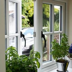 We offer repair & installation services of sash, bay & double glazed window, uPVC, composite, bi folding & french doors in London. Cottage Windows, Cottage Door, House Windows, Facade House, Window Grill Design, Door Design, House Design, Wooden Windows, Casement Windows