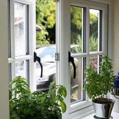 We offer repair & installation services of sash, bay & double glazed window, uPVC, composite, bi folding & french doors in London. Cottage Windows, Cottage Door, House Windows, Facade House, Windows And Doors, Wooden Windows, Casement Windows, Window Grill Design, Door Design