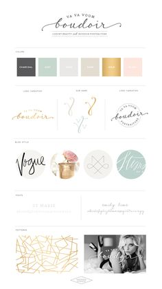 Pastel colors with geometric shapes. I love all these colors as a brand.