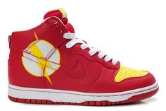 Nike The Flash High Tops Dunk Comic Shoes For Sale : Cool High Tops Nikes Dunks Adidas Converse Cartoon Shoes, Cheap For Sale