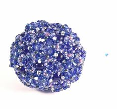 Blueberry Kaleidoscope Beaded Orb by RoyalJDesigns on Etsy