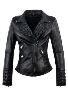 Black Genuine Leather Moto Jacket