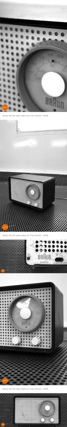 Braun SK 2b tube radio designed by Fritz Eichler in 1956. More on our Facebook page: www.facebook.com/joandsonja
