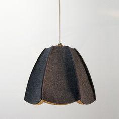 felt shade...warm light - hanging above bedside tables, guest room