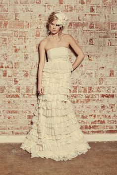 Recycled Fabric Bohemian Wedding Dress  The Flora Gown  by ktjean, omg.... love this dress