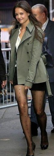 Katie Holmes in sheer being fashion forward