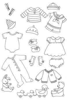 baby clothesline stamp set