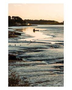 Golfe du Morbihan Bretagne  #landscape #landscapelovers #waterscape #brittany #bretagne #sunset #lowtide #mareebasse #blue #yellow #sunny #zen