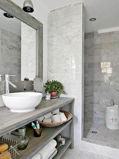 Kleines Badezimmer im harmonischen Grau!  #smallbathroom #grey #interior