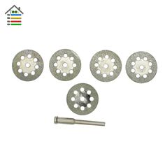 5pcs 22mm Mini Diamond Grinding Cutting Wheel Disc Saw Blades Sharpener Cut Off Abrasive Disks Rotary Tools For Dremel+3mm Shank