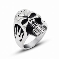 >> Click to Buy << Punk Biker Heavy skull sale 316L stainless steel ring vintage men jewelry wholesale Fast shipping STR-Y601063 #Affiliate