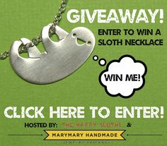 Happy Sloth Necklace Giveaway!