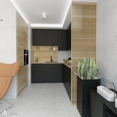 Projekt mieszkania w stylu Loftowym - Kuchnia, styl industrialny - zdjęcie od BRight Studio
