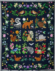 Image result for woodland creatures quilt pattern