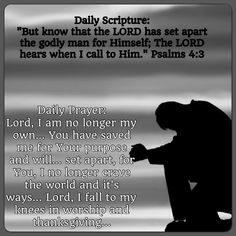 Daily Prayer: Lord, I am no longer my own... You have saved me for Your purpose and will... set apart, for You, I no longer crave the world and it's ways... Lord, I fall to my knees in worship and thanksgiving... #DailyScripture #dailyprayer #eveningscripture #eveningprayer #scripturequote #biblequote #instabible #instaquote #quote #seekgod #godsword #godislove #gospel #jesus #jesussaves #teamjesus #LHBK #youthministry #preach #testify #pray #rollin4Christ #atruegospelministry