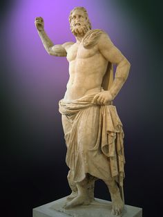 Poseidon is the god of the sea and of earthquakes and tsunamis in Greek mythology. Son of Cronus and brother of Zeus, Hades, Hera, Hestia and Demeter is one of the twelve Olympian gods. Statue of Poseidon, in the National Archaeological Museum of Athens. Roman Mythology, Greek Mythology, Poseidon Statue, Ancient Greek Religion, Greek Pantheon, Greek Statues, Greek Gods And Goddesses, Art Sculpture, Art History