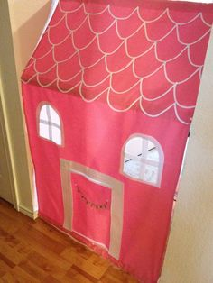 Kids Gift: DIY Doorway Playhouse.  For the girls to wake up to Christmas Morning!