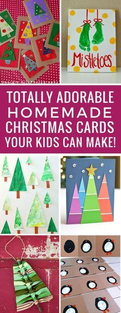 Oh these homemade Christmas cards are so sweet! The kids will love making these for their grandparents! Thanks for sharing!