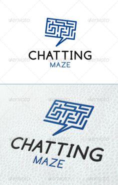 Chatting Maze Logo Template