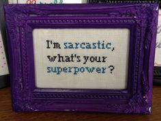 Cross stitch quote