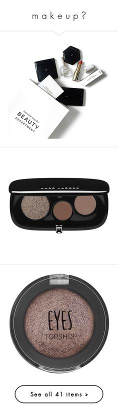 """""""m a k e u p ♡"""" by jessgomes99 ❤ liked on Polyvore featuring beauty, beauty products, makeup, eye makeup, eyeshadow, eyes, 35. eye makeup., palette eyeshadow, marc jacobs eyeshadow and creamy eyeshadow"""