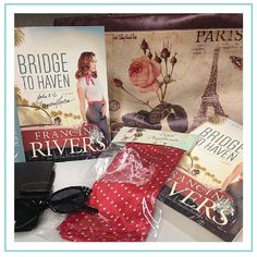GIVEAWAY! Bridge to Haven by Francine Rivers and other goodies, giveaway ends 4/17/15.