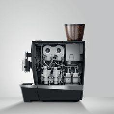 """Der Kaffeevollautomat """"E6"""" von Jura. Barista, Flip Clock, Decor, Ground Coffee, Simple Machines, Coffee Making Machine, Vending Machines, Coffee Cups, Decoration"""