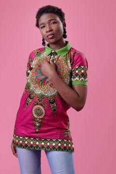 The Home Of African Fashion Polo Shirt Women, T Shirts For Women, Printed Polo Shirts, Dashiki, Kuala Lumpur, African Dress, African Fashion, Plus Size