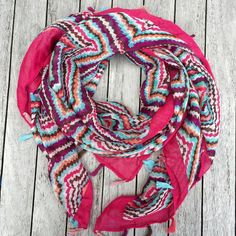 Colorful Boho tassel scarf $15.95 #mintvalley #fashionscarf#boholove #bohoscarf #bohemian #tasselscarf