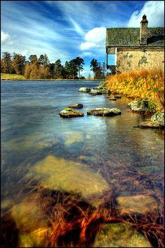 Boathouse Perthshire, Scotland.