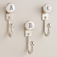 Monogram Letter Hooks