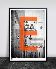 Buusworks.dk | Empire State Building in bright orange, on my wall soon :)