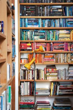 4. Get arty by colour coding your books. It's a fun way to play with colour without lifting a paintbrush!
