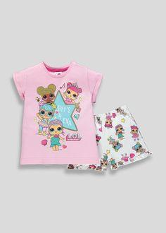OFFICIAL OLDER GIRLS LOL SURPRISE ZIP PYJAMA SET Pink Blue 4//5 5//6 7//8 9//10