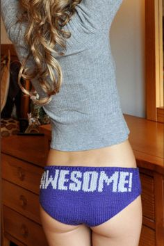 knit  pattern awesome hipster underwear! adorable