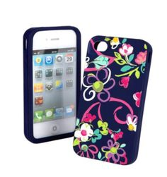 vera bradley iphone silicone case in ribbons