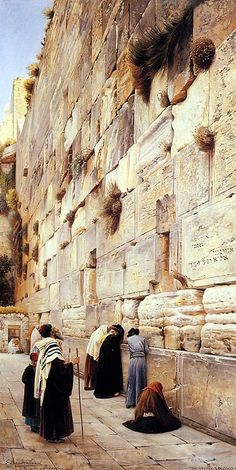 """Lament of the Faithful at the Wailing Wall"" – Gustav Bauernfeind"
