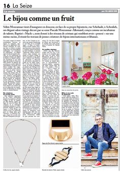 #Sélim #Mouzannar vient d'inaugurer en douceur, en face de sa propre bijouterie, rue Schehadé, à Achrafieh, un élégant salon #vintage décoré par sa soeur Pascale Mouzannar-Allemand, conçu comme un incubateur de talents. Baptisé « #Macle », nom donné à des réseaux de cristaux qui semblent avoir « poussé » sur une même racine, il réunit les travaux de jeunes créateurs de bijoux internationaux et libanais.