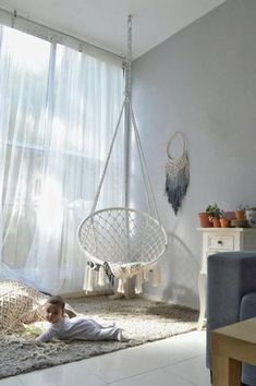 handmade mystical hanging outdoor macrame voyager indoor nordic cotton style chair Hanging Outdoor Indoor Nordic Style Macrame Handmade Cotton Chair Mystical VoyagerYou can find Hanging chair and more on our website Indoor Hammock Chair, Hanging Swing Chair, Indoor Swing, Swinging Chair, Swing Chairs, Hanging Chairs, Hammock Swing, Hammock Ideas, Trampoline Chair