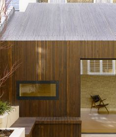 Lateral House in Notting Hill, London, United Kingdom by Pitman Tozer Architects Roof Cladding, Timber Cladding, Exterior Cladding, Architecture Résidentielle, Wooden Facade, Timber Roof, Wood Siding, House Extensions, House Design