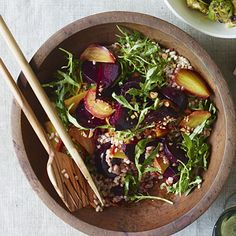 Beets and Farro With Smoky Almonds. This year, make healthy, fall produce the real star at your Thanksgiving table. | Health.com