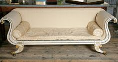 A Regency Period White Painted Grecian Revival Sofa thumbnail 2