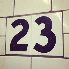 my lucky number #typography #nycsubway http://instagram.com/zoriedesign www.zorie.com