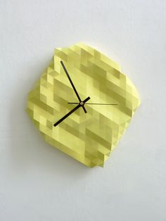 DOUBLE LOVE! Faceted Wall Clock. £45.00, via Etsy.