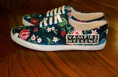 Hand Painted Vampire Weekend Shoes by InfinityOnBandShoes on Etsy, $50.00